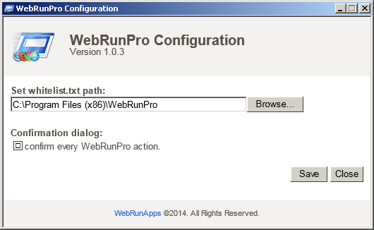 WebRunPro Screen shot